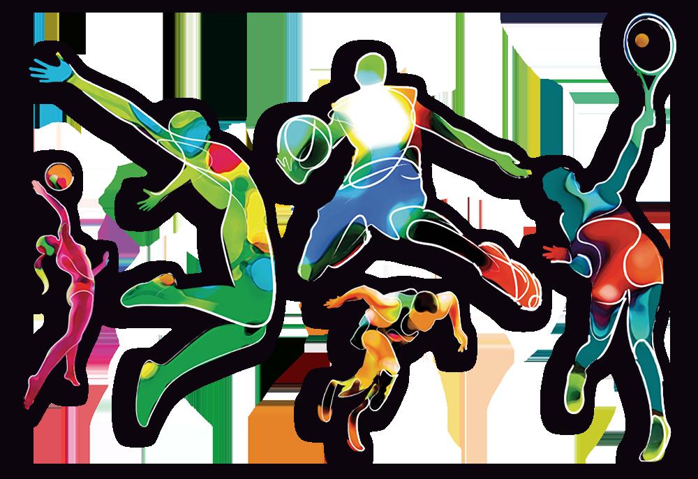 Assicurazione Sportiva Atleti Vari Acquarello